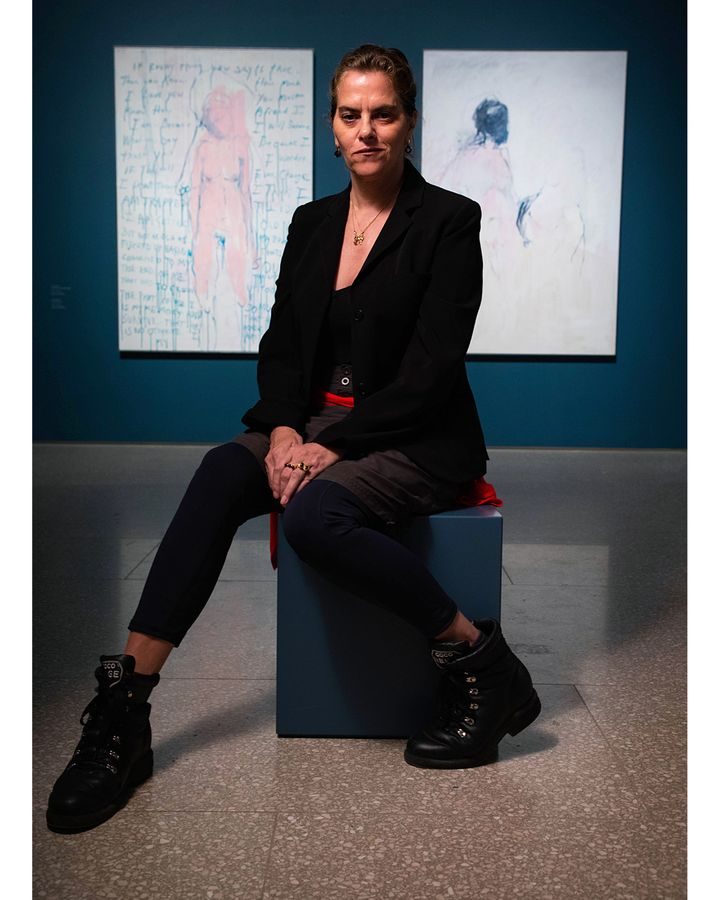 An exhibition at the RA combines the works of Tracey Emin (pictured) and Edvard Munch (Credit: Courtesy of Galleria Lorcan O'Neill Roma /Tracey Emin / David Parry)