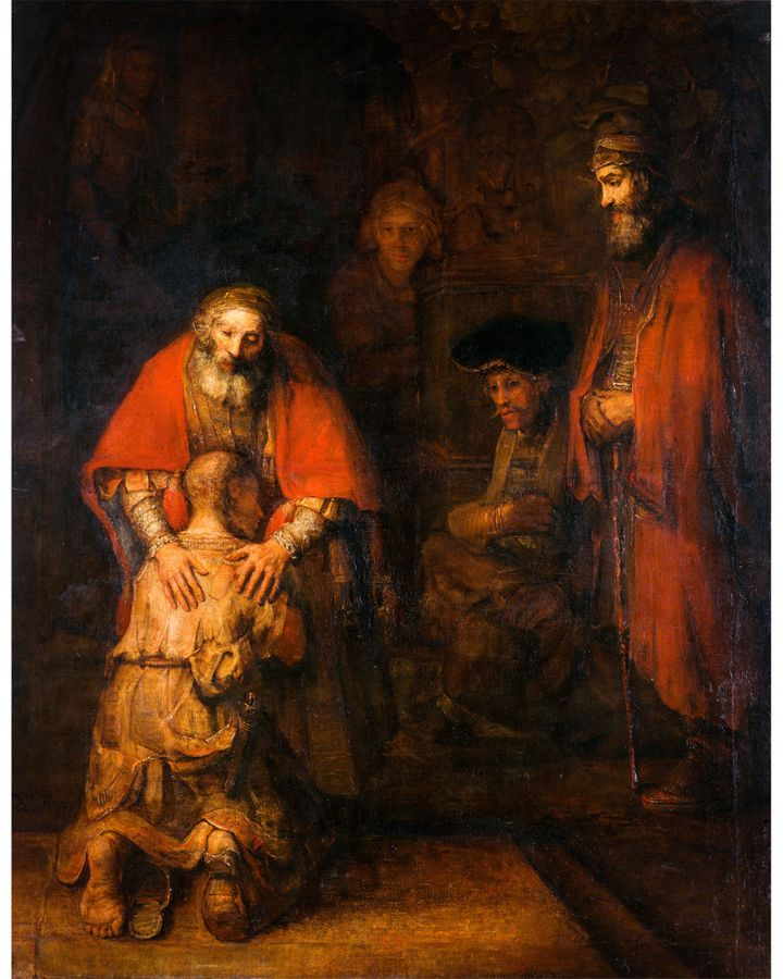 Many other painters depicted the scene described in the Gospel of Luke, including Rembrandt with The Return of the Prodigal Son (1668) (Credit: Alamy)