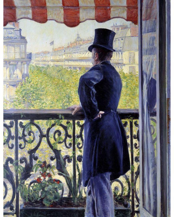 «Человек на балконе» (1880) Гюстава Кайботта изображает волнение городской жизни весенним днем (Источник: Getty Images)