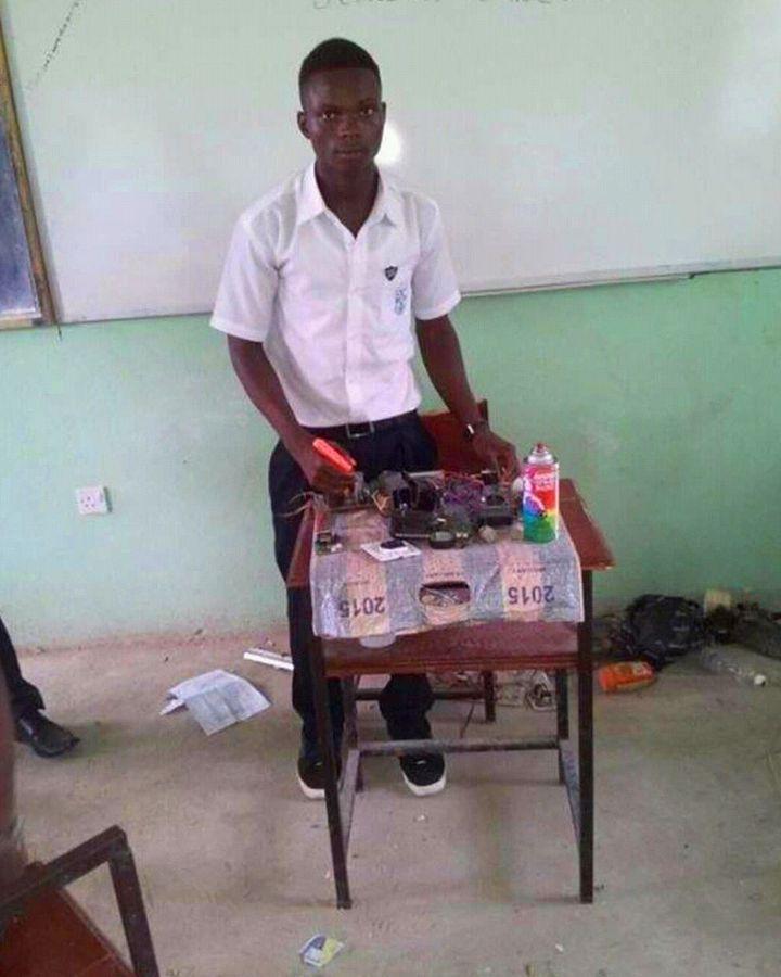 Thoronka began developing the piezoelectric device while he was at university in Kigali, Rwanda (Credit: Brian Sankoh)