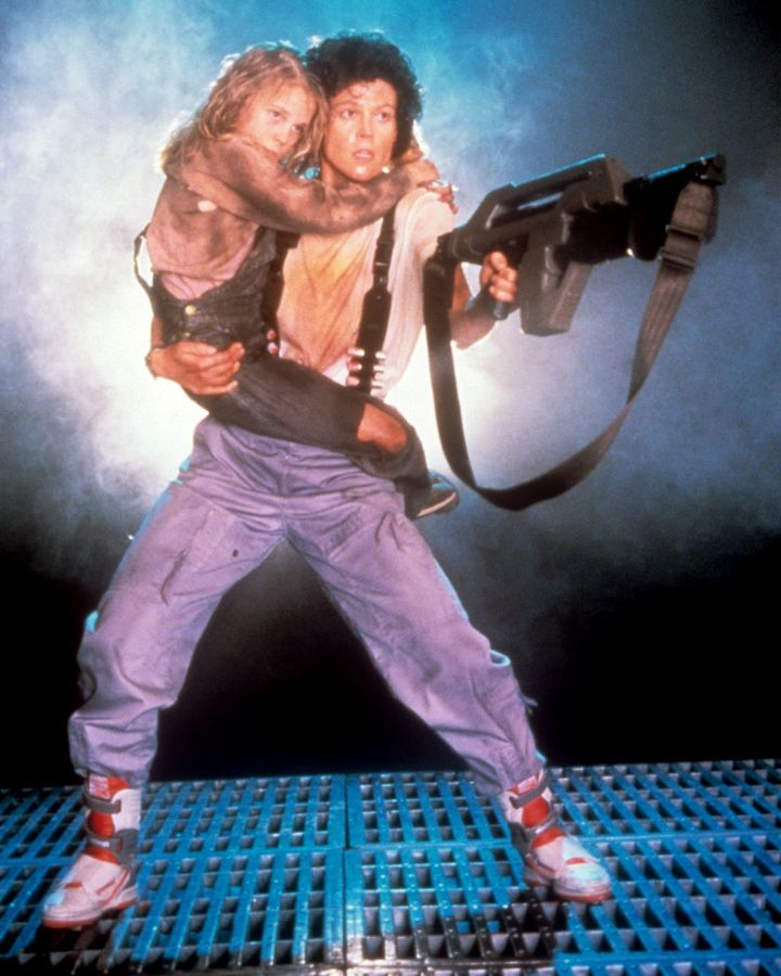 Sneaker culture has appeared on-screen over the decades, including Sigourney Weaver's sci-fi, laceless 'Alien Stomper' trainers (Credit: Getty Images)