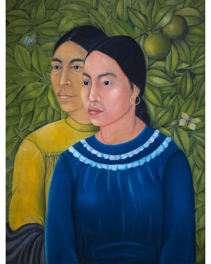 The influence of the Renaissance Old Masters is evident in Kahlo's 1928 painting Two Women (Portrait of Salvadora and Herminia) (Credit: Alamy)
