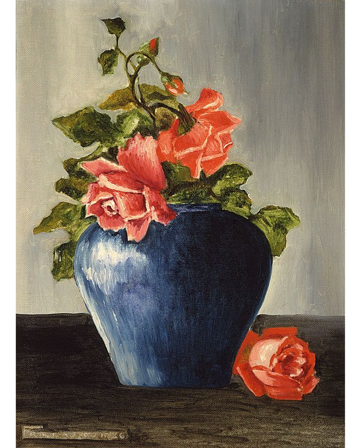 Still Life (with Roses), 1925, has not been exhibited since 1954, and shows the influence of the artist's father (Private collection. Courtesy Sotheby's, New York)