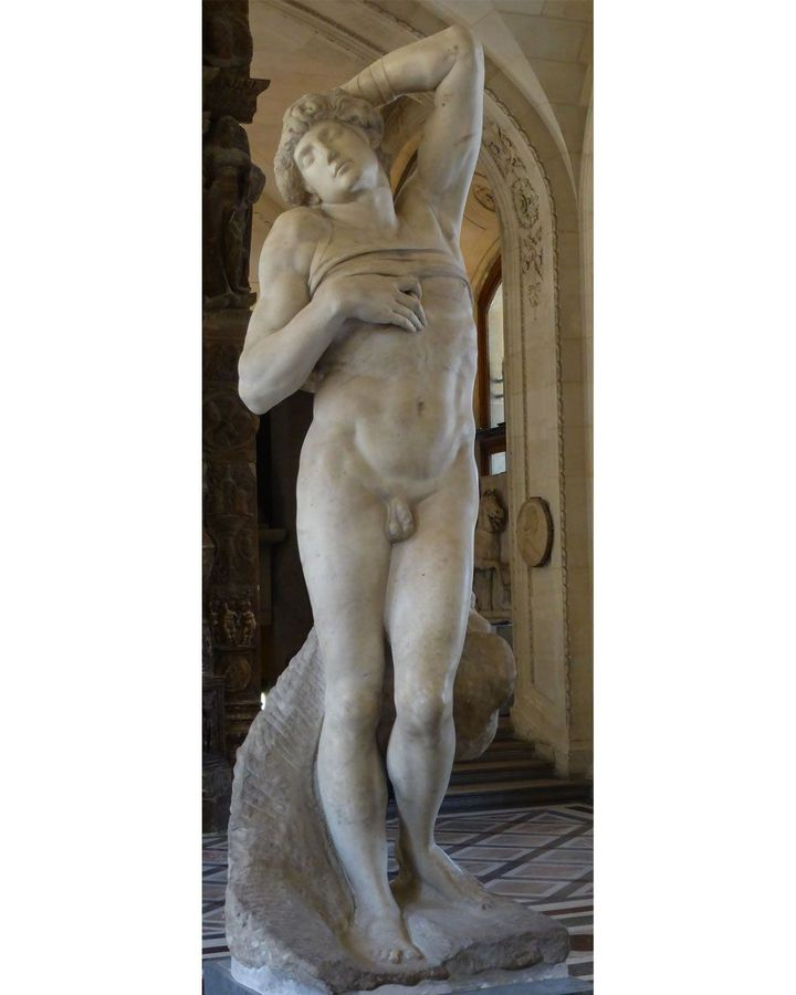 """Art historian Richard Fly wrote that Michelangelo's The Dying Slave """"suggests that moment when life capitulates before the relentless force of dead matter"""" (Credit: Alamy)"""