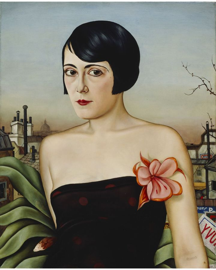 Christian Schad's Maika (1929), with her bobbed hair and sleeveless dress, shows a modern woman in control of her own image and body (Credit: VEGAP, Bilbao, 2021)