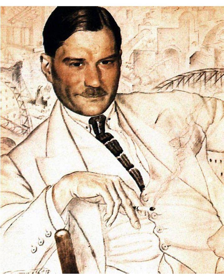 A 1923 portrait of the author Yevgeny Zamyatin by Boris Koustodiev (Credit: Alamy)