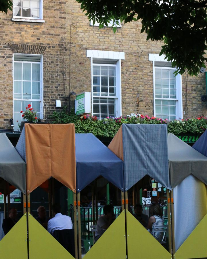 Drummond Streatery is a new al fresco dining set-up that hopes to inject new life into the area (Credit: Ajay Shah)