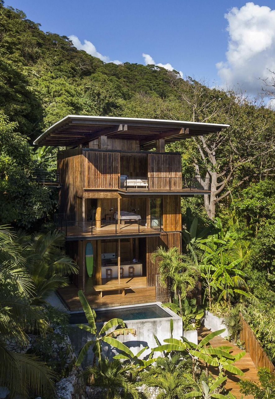 The Treehouse in Costa Rica is a stunning, three-storey tower created in local timber (Credit: Olson Kundig)