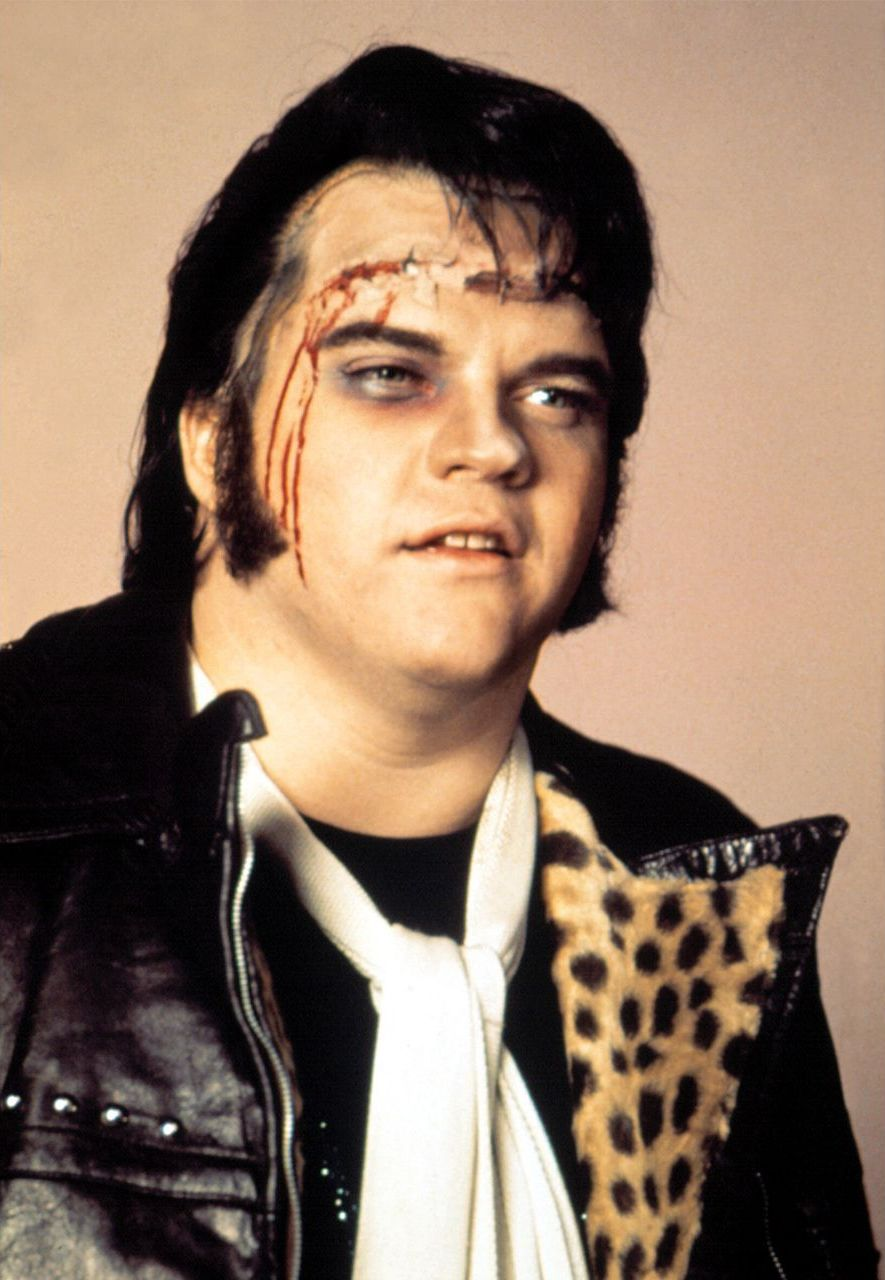 Meatloaf plays a delivery boy called Eddie, who donates part of his brain to Frank's creation Rocky (Credit: Alamy)