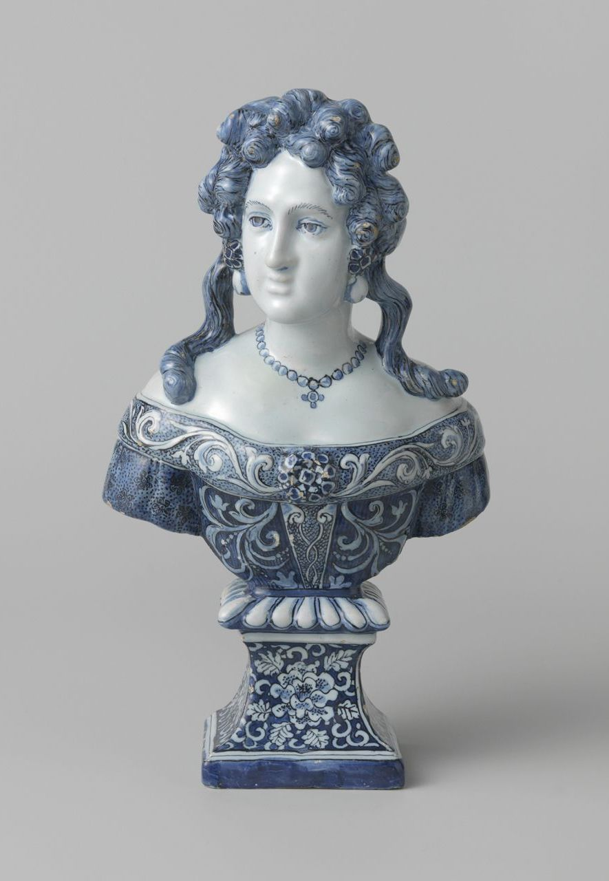 A 17th-Century bust of Queen Mary ll, who did much to popularise Delftware (Credit: Loan from Rijksmuseum)