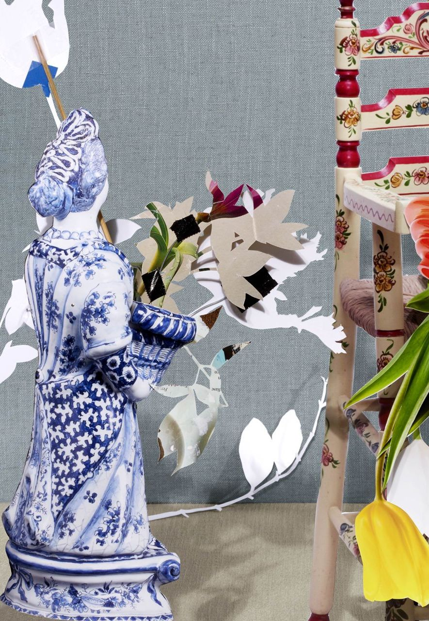 Contemporary designers Scheltens & Abbenes were inspired by Delftware to create a wall covering for the Palace Huis ten Bosch (Credit: Scheltens and Abbenes)