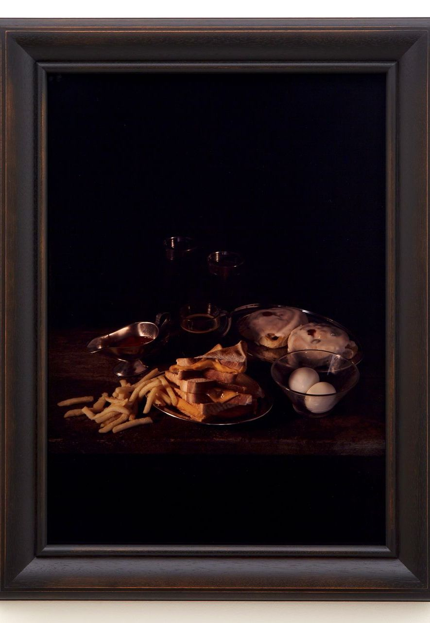 Collishaw's Last Meal on Death Row series recreated the menus requested by US prisoners with death sentences (such as Gary Miller's, pictured) (Credit: Mat Collishaw)