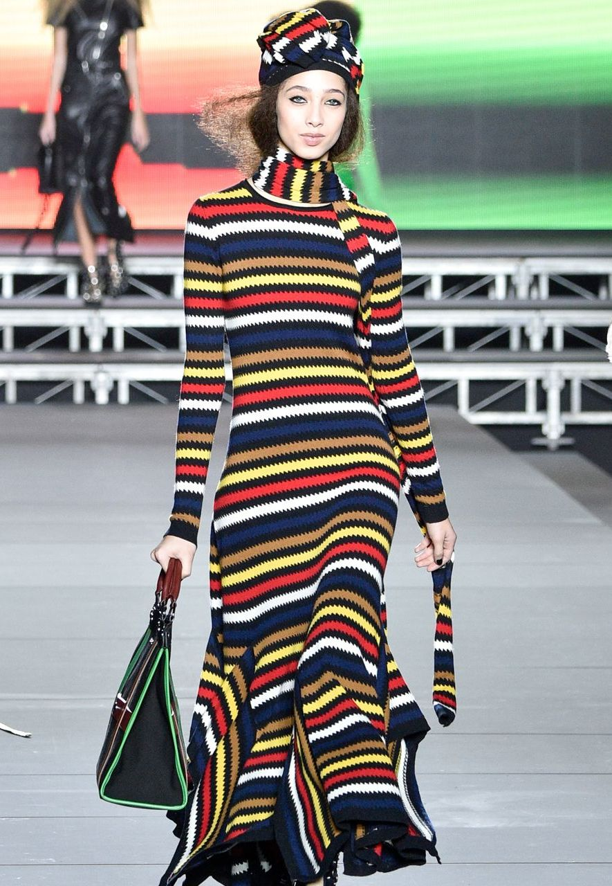 Sonia Rykiel is among the big-name designers who specialises in knitwear, as seen here at a recent Paris Fashion Week (Credit: Getty Images)