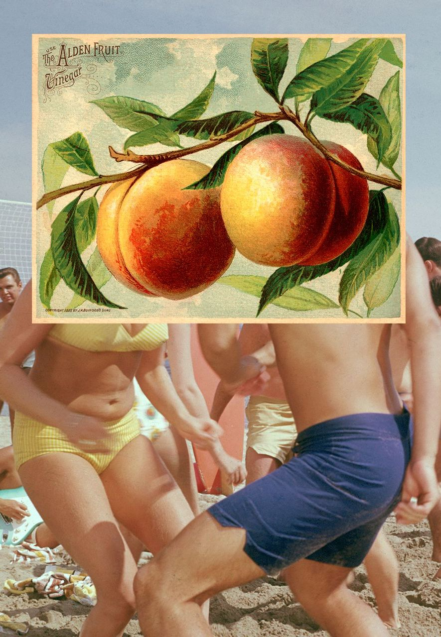 The French expression 'I have a peach', meaning 'I'm excited', is one of the country's many gastronomic metaphors (Credit: Getty Images)