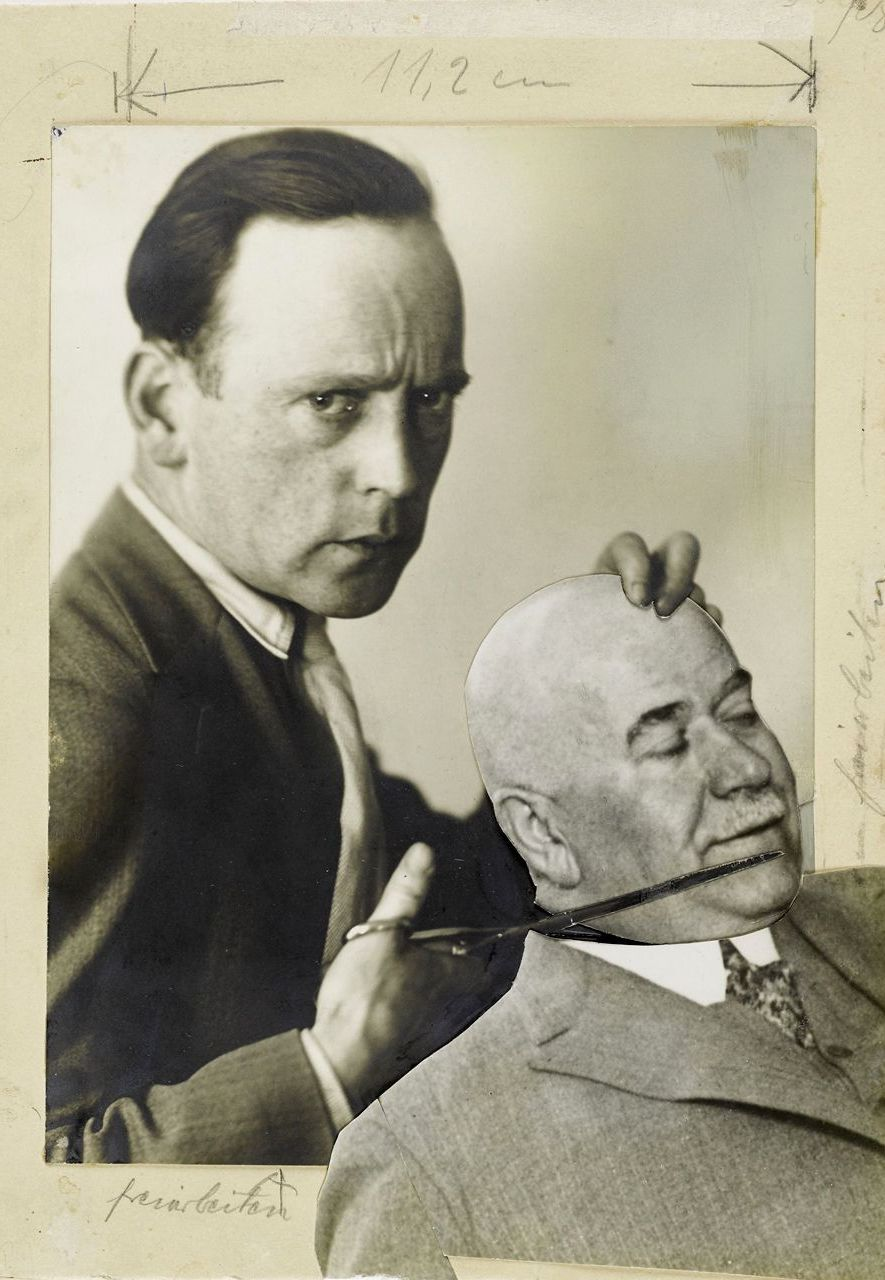Use Photo as a Weapon! (1929) sees the artist cutting off the head of the Berlin police chief (Credit: Akademie der Kunste)