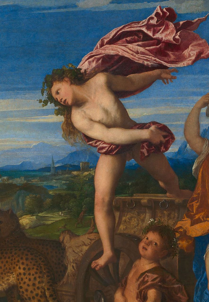Bacchus appears frozen in mid-air, blasted from his seat - but is this the result of love or is there a more down-to-earth explanation? (Credit: National Gallery)