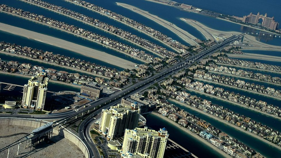 Humanity now even has the ability to create new islands (Copyright: AFP)