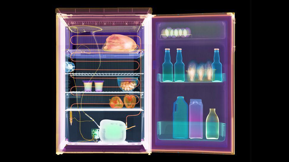 X-ray of fridge (Copyright: SPL)