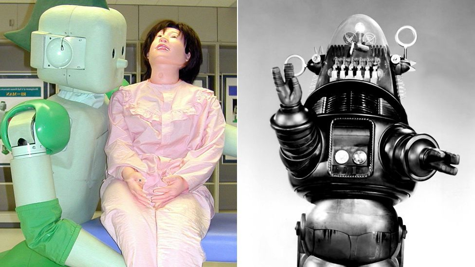 Forbidden Planet's Robby offered an early vision of robot companionship now seen in carers robots designed to help the elderly in Japan. (Copyright: Getty Images, Rex Images)