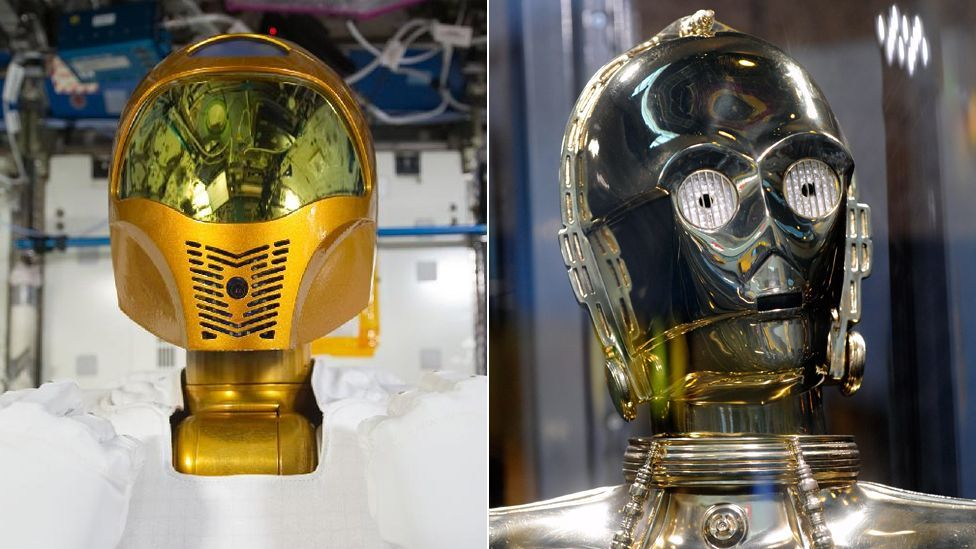 Robonaut (l) , currently installed on the International Space Station echoes the looks of Star Wars favourite C3PO (Copyright: Nasa, Getty Images)