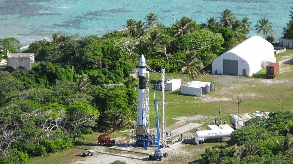 A later attempt to put both Doohan and Cooper's remains into orbit failed when the commercial Falcon 1 rocket, launched by SpaceX, encountered problems. (Copyright: SpaceX)