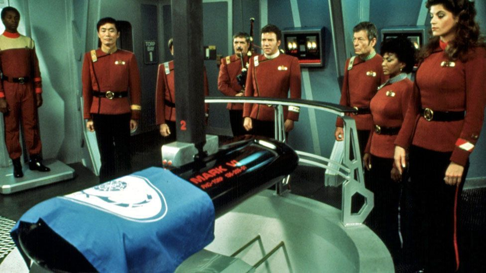 The death of Spock in the Star Trek film The Wrath of Khan shows a space-age equivalent of a burial at sea. (Copyright: Rex Images)