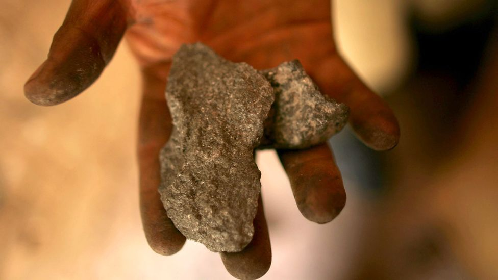 A miner holds a piece of raw silver, a sight that will become increasingly rare over the next few decades. (Copyright: Getty Images)