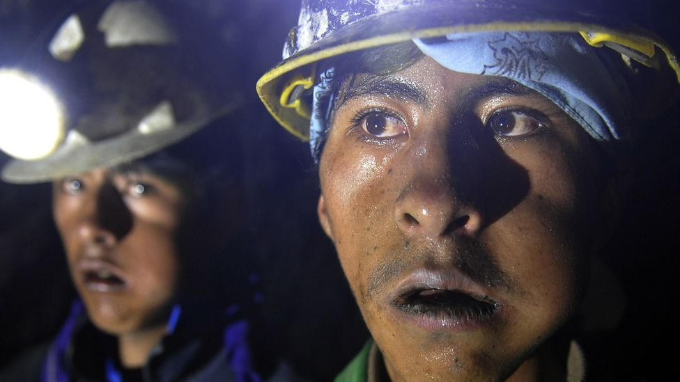 A census in 2001 showed that 381 minors of both sexes between 7 and 18 years old worked in the Cerro Rico mines. (Copyright: Getty Images)