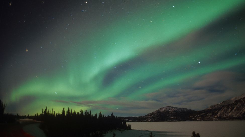 Geomagnetic storms can produce beautiful auroras but they also threaten electrical grids and disrupt GPS signals. (Copyright: Science Photo Library)