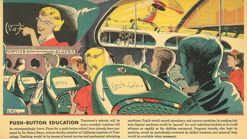 At its peak, the strip reached 19 million readers every Sunday, exploring topics as diverse as the future of education to the mechanisation of war.
