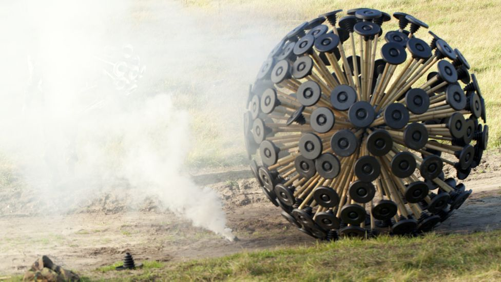The device has been tested by the Dutch military to see if it can help clear some of the millions of mines scattered around the globe. (Copyright: Massoud Hassani)