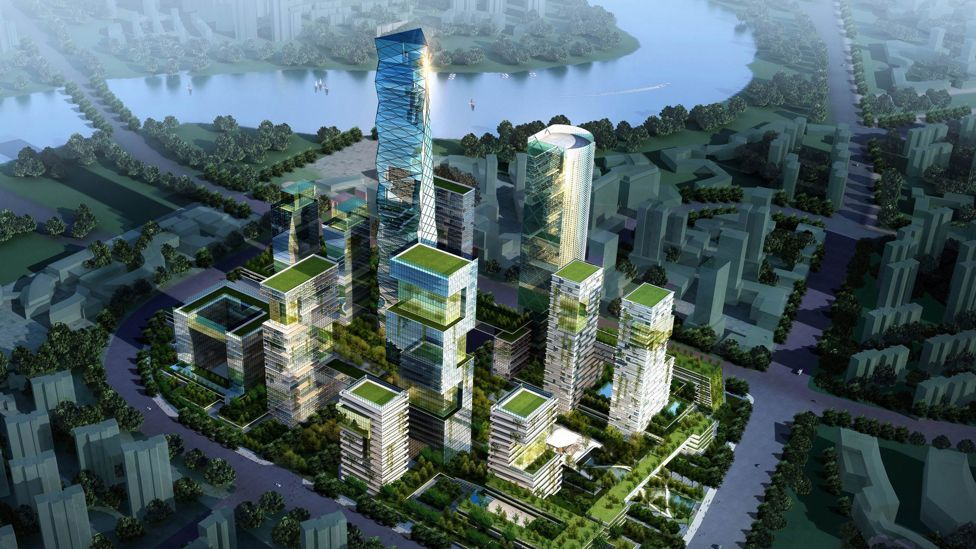 The world's biggest eco-city in development, Tianjin Eco-city will be around half the size of Manhattan. (Copyright: Sino-Singapore Tianjin Eco-city Development and Investment)