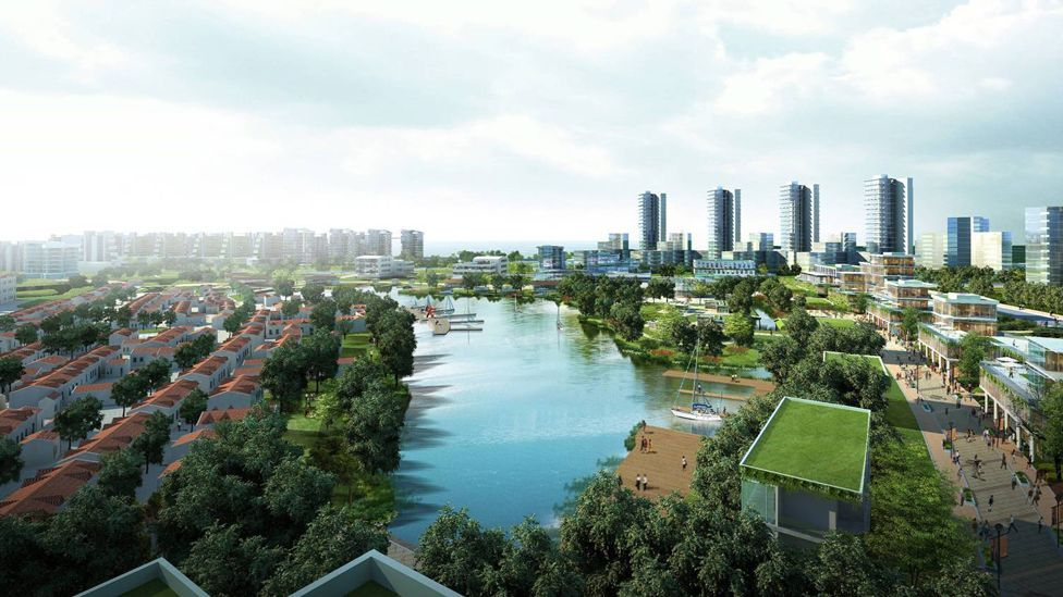 Technology removing toxic heavy metals from water will help turn the polluted reservoir into a boating lake. (Copyright: Sino-Singapore Tianjin Eco-city Development and Investment)