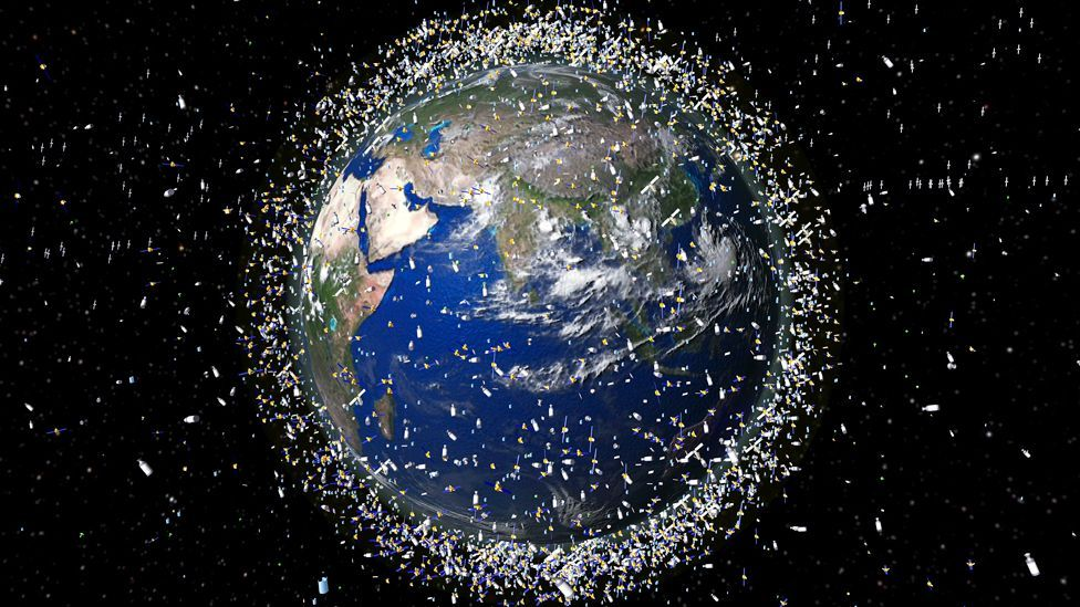 Last year a study reported that space debris had reached a level at which frequent collisions and spacecraft failures are increasingly likely. (Copyright: Science Photo Library)