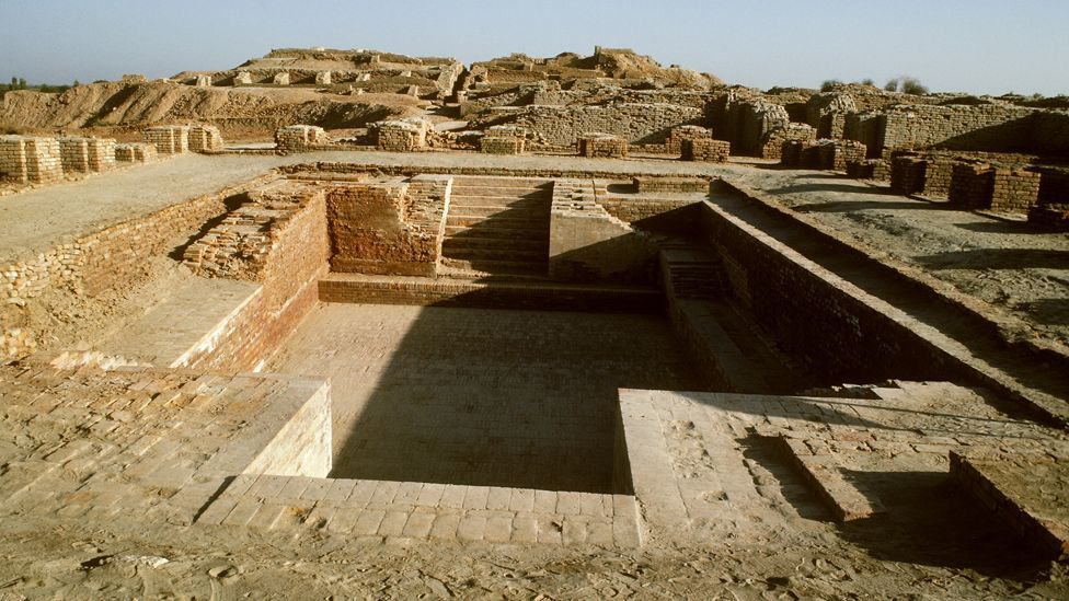 From 3300 to 1300BC the Indus Valley Civilisation grew along the river in modern-day Pakistan. Scientists believe drought caused its demise. (Copyright: Getty Images)
