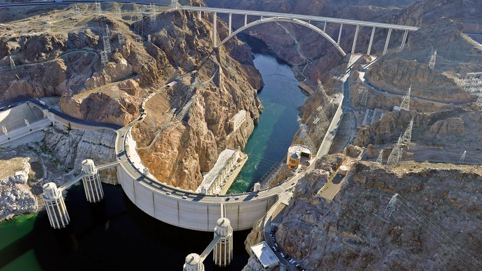 Built in the 1930s, the Hoover Dam is the highest concrete arch dam in the US, and a major sightseeing destination. (Copyright: Getty Images)