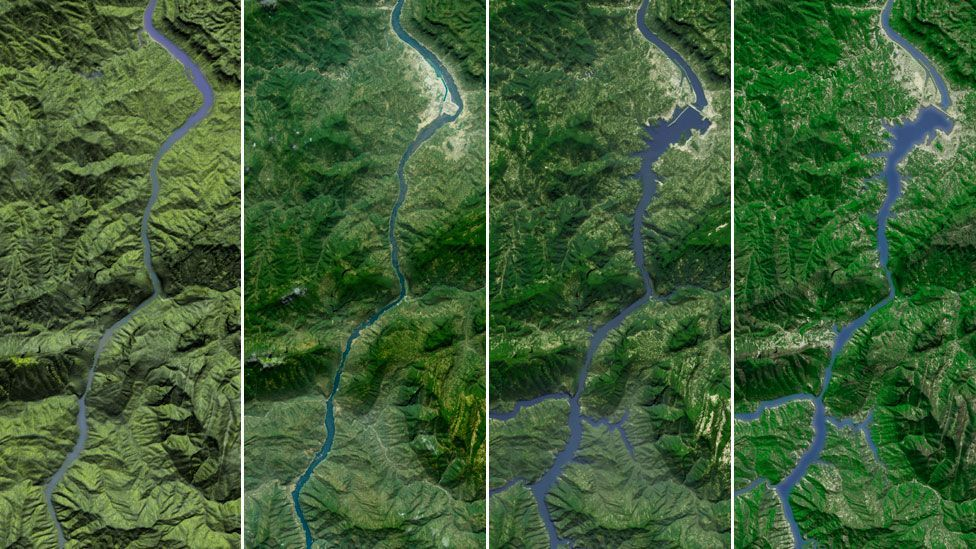 The 12-year construction project across China's longest river submerged 13 cities, 140 towns and 1,350 villages. (Copyright: Science Photo Library)