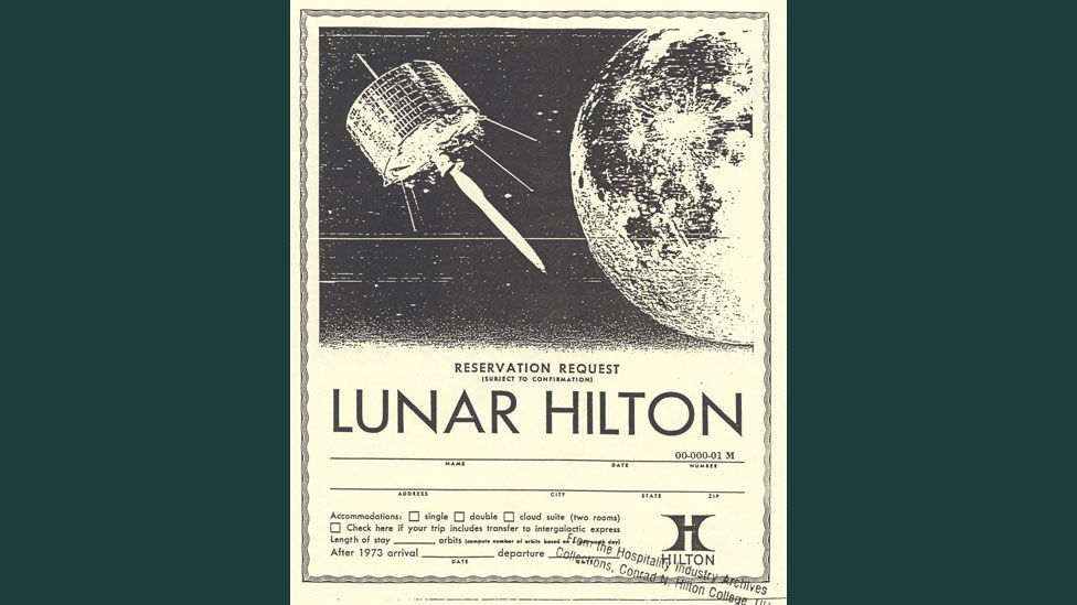 Promotional literature prompted hundreds of people to enquire about Hilton's plans. (Copyright: The Hospitality Industry Archives, Conrad Hilton College, University of Houston)