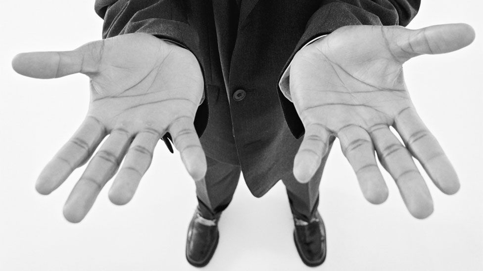 Man with upturned hands (Copyright: Thinkstock)