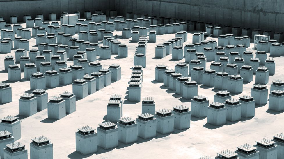 Anti-seismic pads that will support the 360,000-tonne structure of the International Thermonuclear Experimental Reactor, or Iter. (Copyright: Getty Images)