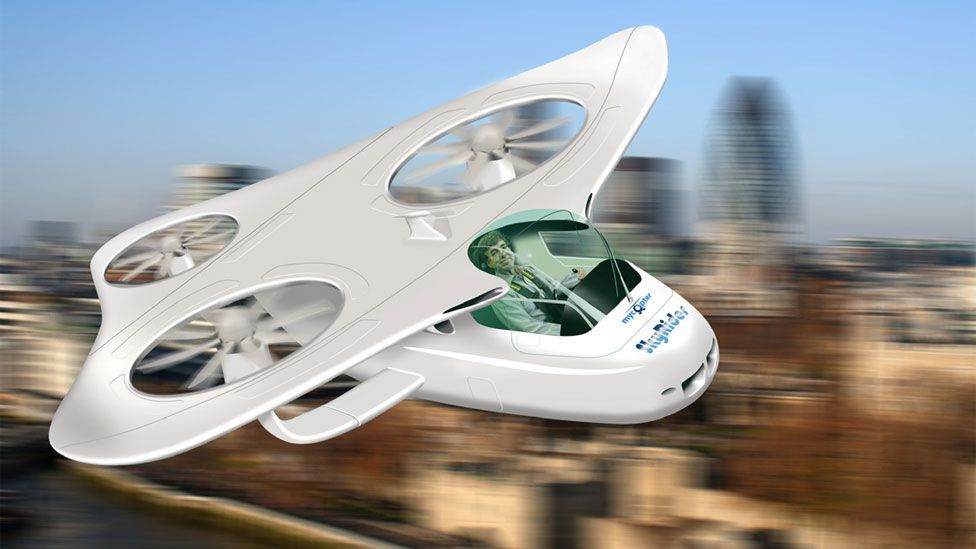 Other projects, such as the European funded myCopter, see a future when there are aerial highways, and vehicles are designed purely for personal air travel. (Copyright: myCopter)