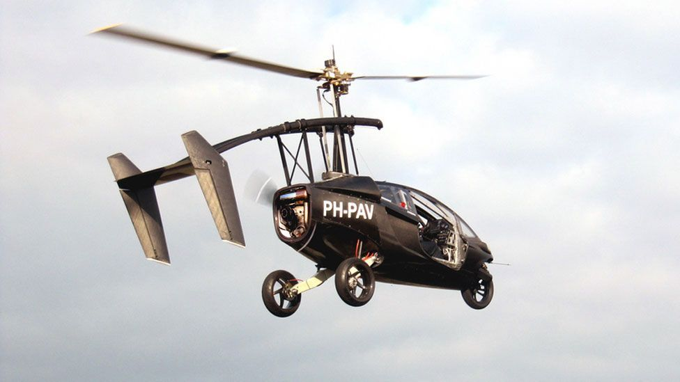 The machine, which had its first test in early 2012, is able to travel around 560km (350 miles) on one tank of fuel and is expected to cost around $300,000. (Copyright: Pal-V)