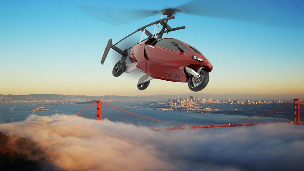 The Pal-V flying trike is one of a handful of new vehicles that aims to allow drivers to take to the skies. (Copyright: Pal-V)