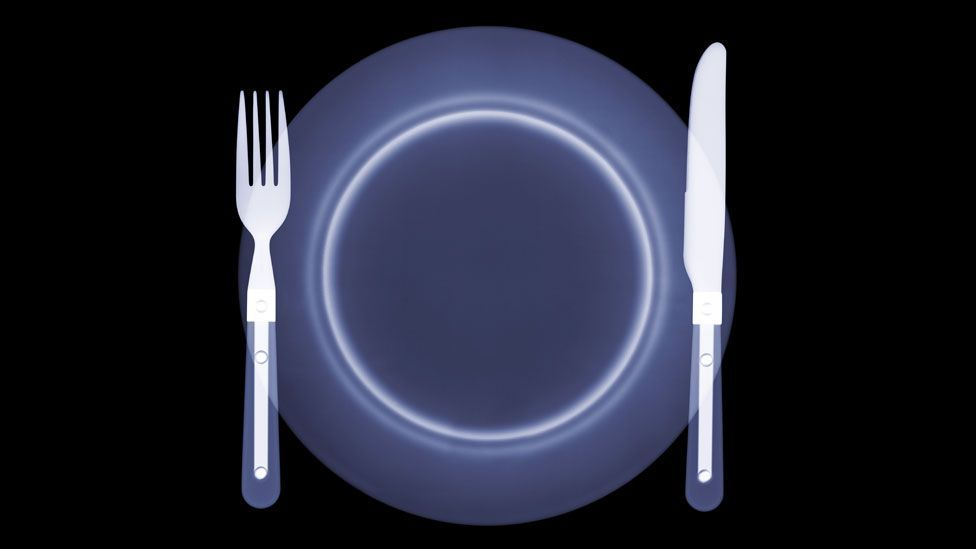 X-ray of a plate (Copyright: SPL)