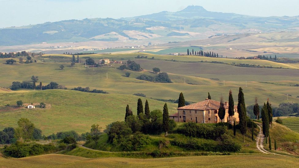Tuscany's hilltop towns offer the best views of the region.