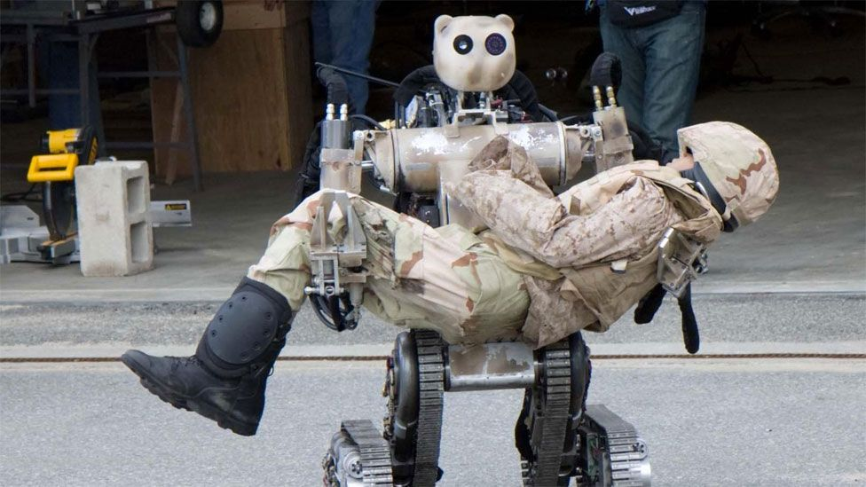 Robots like the Bear could also be used for dangerous tasks such as retrieving injured soldiers from the battlefield and transporting them to safety. (Copyright: US Army)