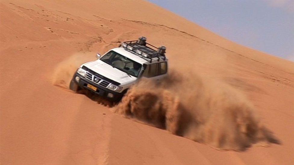 Dune bashing in Oman's Wahiba Sands