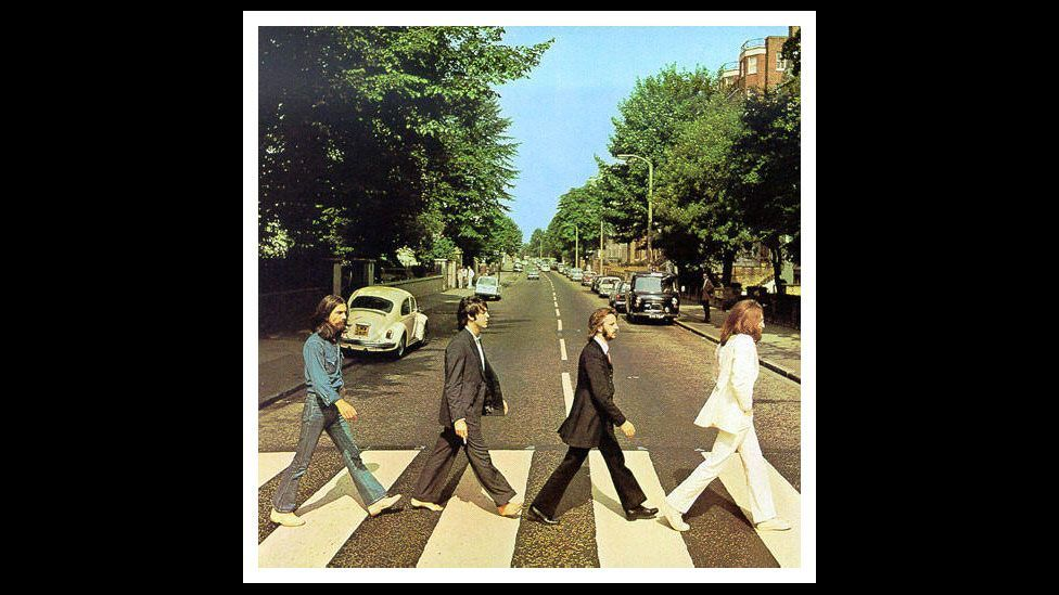 The Beatles' iconic Abbey Road album cover included Paul McCartney with a cigarette. In the 2000s, US poster companies removed the offending item. (Courtesy: Fourandsix.com)