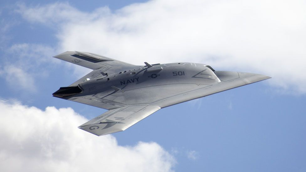 The craft is designed to provide reconnaissance and strike capabilities, although the prototypes that are currently being flown carry no weapons. (Copyright: Northrop Grumman)