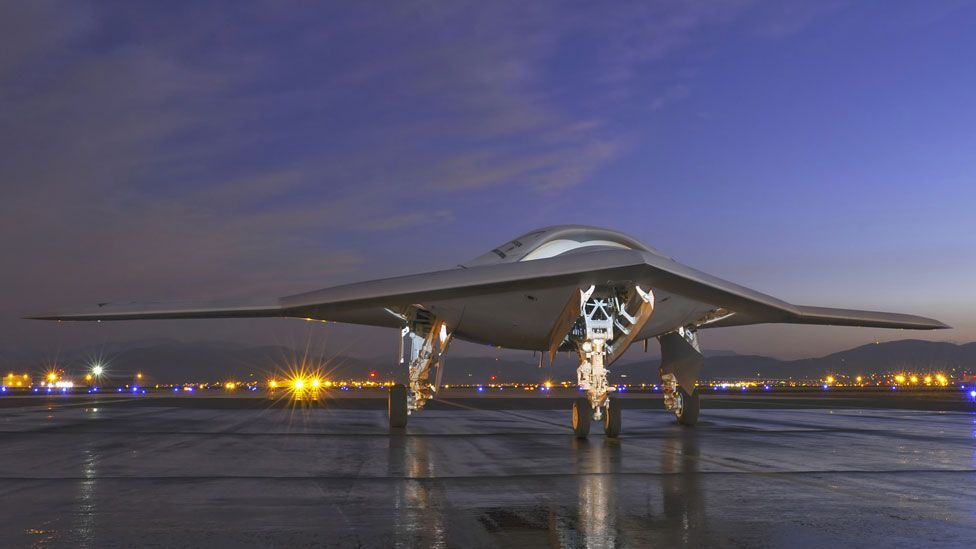 Unlike many drones which are flown remotely by pilots with joysticks, the intelligent X-47B is predominantly controlled by 'mouse clicks' and code. (Copyright: Northrop Grumman)